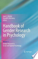 Handbook of Gender Research in Psychology Book