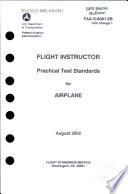 Flight Instructor  : Practical Test Standards for Airplane