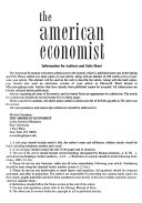 The American Economist Book
