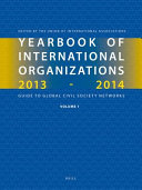 Yearbook of International Organizations 2013 2014 Book