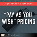 Pay As You Wish Pricing Book PDF