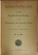 Classified English Prose Fiction...