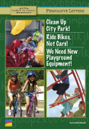 Clean Up City Park   Ride Bikes  Not Cars   We Need New Playground Equipment