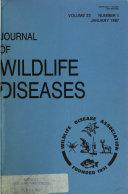 Journal of Wildlife Diseases Book