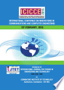 INTERNATIONAL CONFERENCE ON INNOVATIONS IN COMMUNICATIONS AND COMPUTER ENGINEERING - ICICCE'15