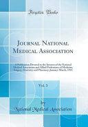 Journal National Medical Association  Vol  3