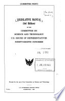 Legislative manual of the Committee on Science and Technology, U.S. House of Representatives, Ninety-eighth Congress