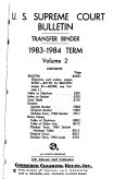 U S  Supreme Court Bulletin