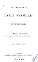 The elements of Latin grammar Book