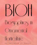 BIOH: Biographies in Ornamental Horticulture