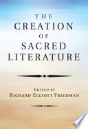 The Creation of Sacred Literature Book