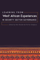 Pdf Learning from West African Experiences in Security Sector Governance Telecharger