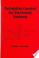 Reliability Control for Electronic Systems