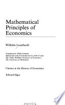 Mathematical principles of economics
