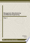 Management  Manufacturing and Materials Engineering