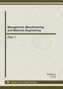 Management, Manufacturing and Materials Engineering Pdf/ePub eBook