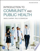 Introduction to Community and Public Health