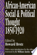 African-American Social and Political Thought