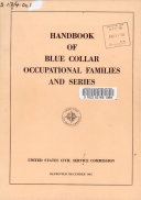 Handbook of Blue Collar Occupational Families and Series