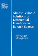 Almost Periodic Solutions of Differential Equations in Banach Spaces ebook