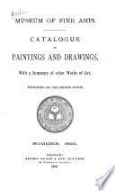 Catalogue Of Paintings And Drawings