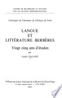 Langue et littérature berbères