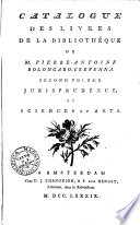 Catalogue des liures de la bibliothéque de m. Pierre-Antoine Bolongaro-Creuenna. Premier [-cinquieme] volume