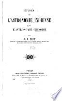 tudes sur l astronomie indienne et sur l astronomie chinoise