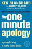 The One Minute Apology Book PDF
