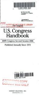 The Original U S  Congress Handbook 2006