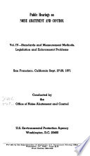 Public Hearings On Noise Abatement And Control Book PDF