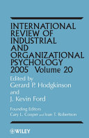 International Review of Industrial and Organizational Psychology, 2005
