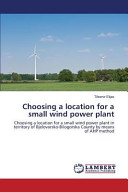 Choosing a Location for a Small Wind Power Plant