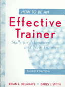 Cover of How to Be an Effective Trainer