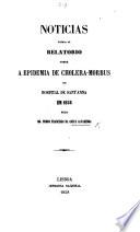 Noticias Cerca Do Relatorio Sobre A Epidemia De Cholera Morbus No Hospital De Sant Anna Em 1856 Pelo Dr P F Da Costa Alvarenga Reviews Reprinted From Periodicals