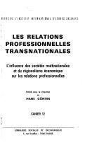 Les Relations professionnelles transnationales