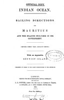 Indian ocean  Sailing directions for Mauritius and the islands included in its government