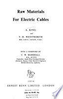 Raw materials for electric cables