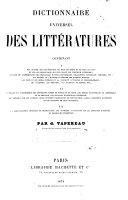Dictionnaire universel des littératures