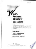 Ward's Business Directory of U.S. Private and Public Companies