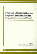 Synthesis  Characterization and Properties of Nanostructures Book