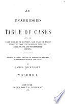 An Unabridged Table of Cases