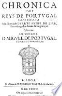 Primeira parte das Chronicas dos Reis de Portugal, etc