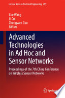 Advanced Technologies in Ad Hoc and Sensor Networks Book