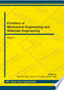 Frontiers Of Mechanical Engineering And Materials Engineering