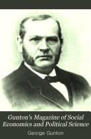 Gunton s Magazine of Social Economics and Political Science