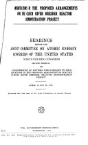 Hearings and Reports on Atomic Energy