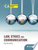 LAW, ETHICS & COMM - FOR CA-IPCC