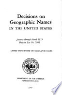 Decisions On Geographic Names In The United States