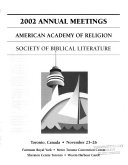AAR SBL Annual Meeting Program